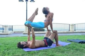 Dini & Pablo: Acro Yoga in Sliema Malta